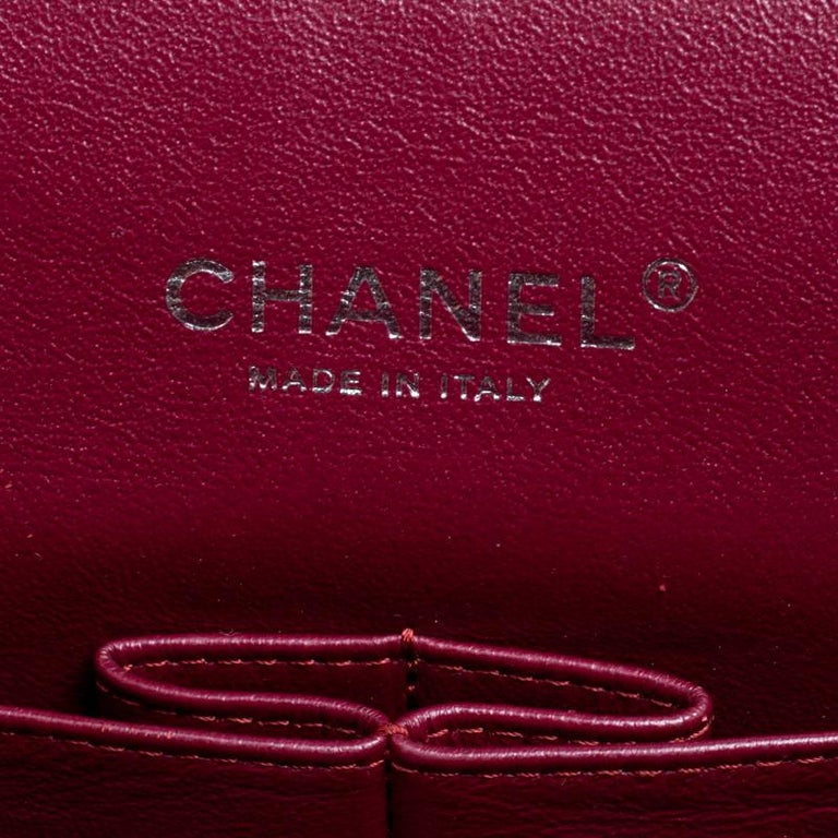 6c60690da541 Chanel Red Quilted Patent Leather Maxi Classic Double Flap Bag For Sale 4