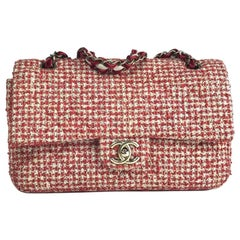 CHANEL Red Tweed Bag