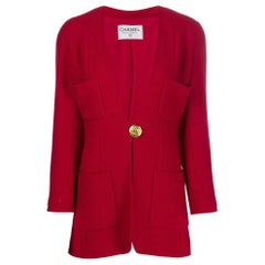 Chanel Red Wool Jacket