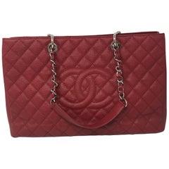 Chanel Red XL GST Caviar Bag