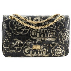Chanel Reissue 2.55 Flap Bag Graffiti Crocodile Embossed Calfskin 226