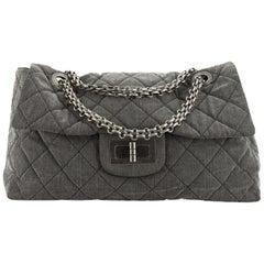 Chanel Reissue 2.55 Flap Bag Quilted Denim XXL