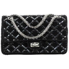 Chanel Reissue 2.55 Flap Bag Quilted Embellished Grosgrain 225