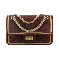 Chanel Reissue 2.55 Flap Bag Quilted Suede with Metallic Calfskin 224