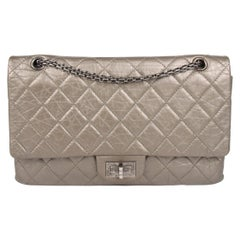 Chanel Reissue 2.55 Timeless Double Flap Bag 227 - metallic green bronze