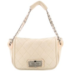 Chanel Reissue Flap Bag Quilted Suede and Shearling Small