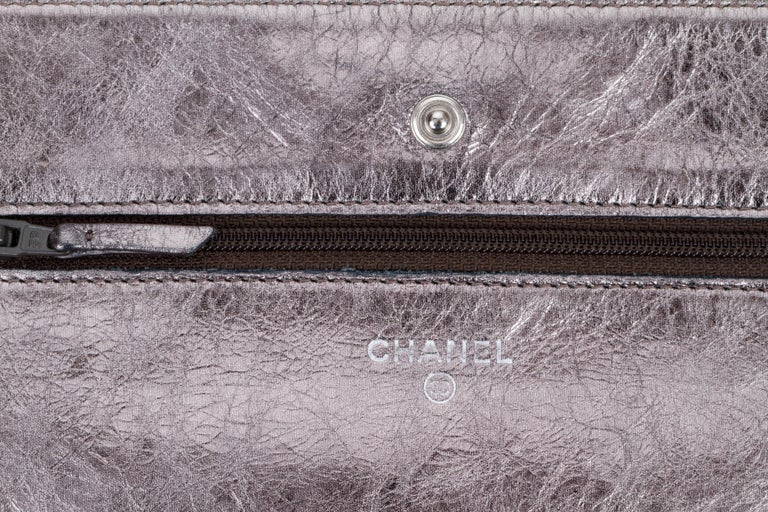 e31b418f72ce Women's Chanel Reissue Pewter Wallet On A Chain Crossbody Bag For Sale