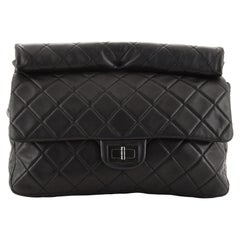 Chanel Reissue Roll Clutch Quilted Lambskin Jumbo