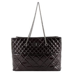 Chanel Reissue Tote Quilted Patent East West