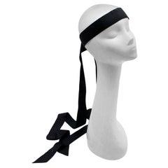 Chanel Resort 2018 Black Silk Ribbon Headband