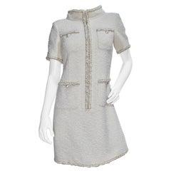 Chanel Resort 2019 Cream Tweed Dress