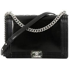 Chanel Reverso Boy Flap Bag Glazed Calfskin Large