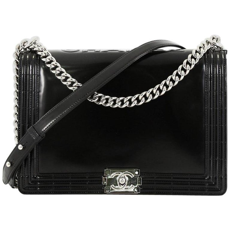 67985a5caa6a9a Chanel Reverso Boy Flap Bag Glazed Calfskin Large For Sale at 1stdibs