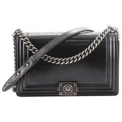 Chanel Reverso Boy Flap Bag Glazed Calfskin New Medium