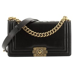 Chanel Reverso Boy Flap Bag Glazed Calfskin Old Medium