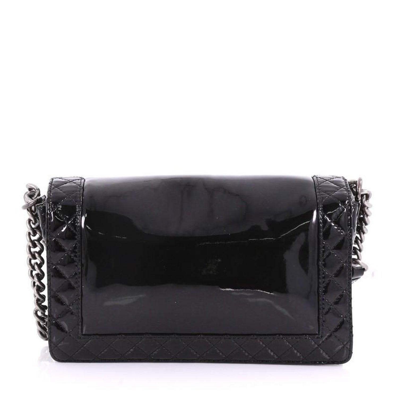 b3a32d31865f Chanel Reverso Boy Flap Bag Patent New Medium at 1stdibs