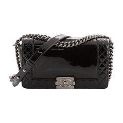 Chanel Reverso Boy Flap Bag Patent Old Medium