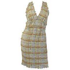Chanel Ribbon Tweed Dress 38 SS 2011