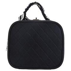 Chanel Ribbon Vanity Case Quilted Grosgrain Medium