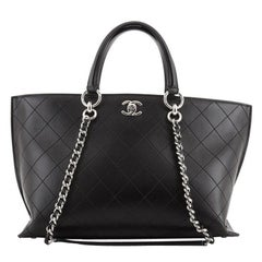 Chanel Ring My Bag Shopping Tote Stitched Calfskin Medium