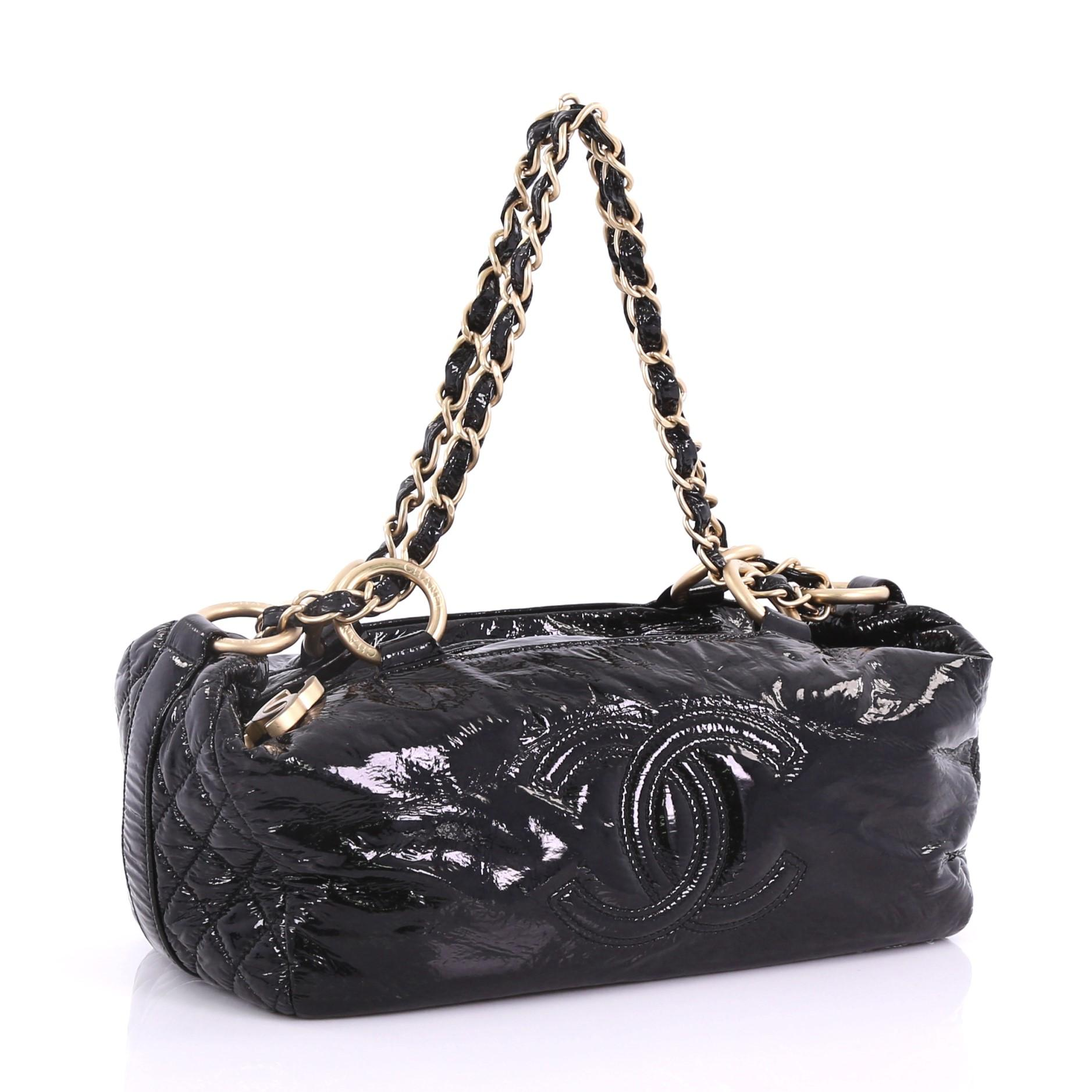 5cee87729d74 Chanel Rock and Chain Bowler Patent Vinyl Medium at 1stdibs
