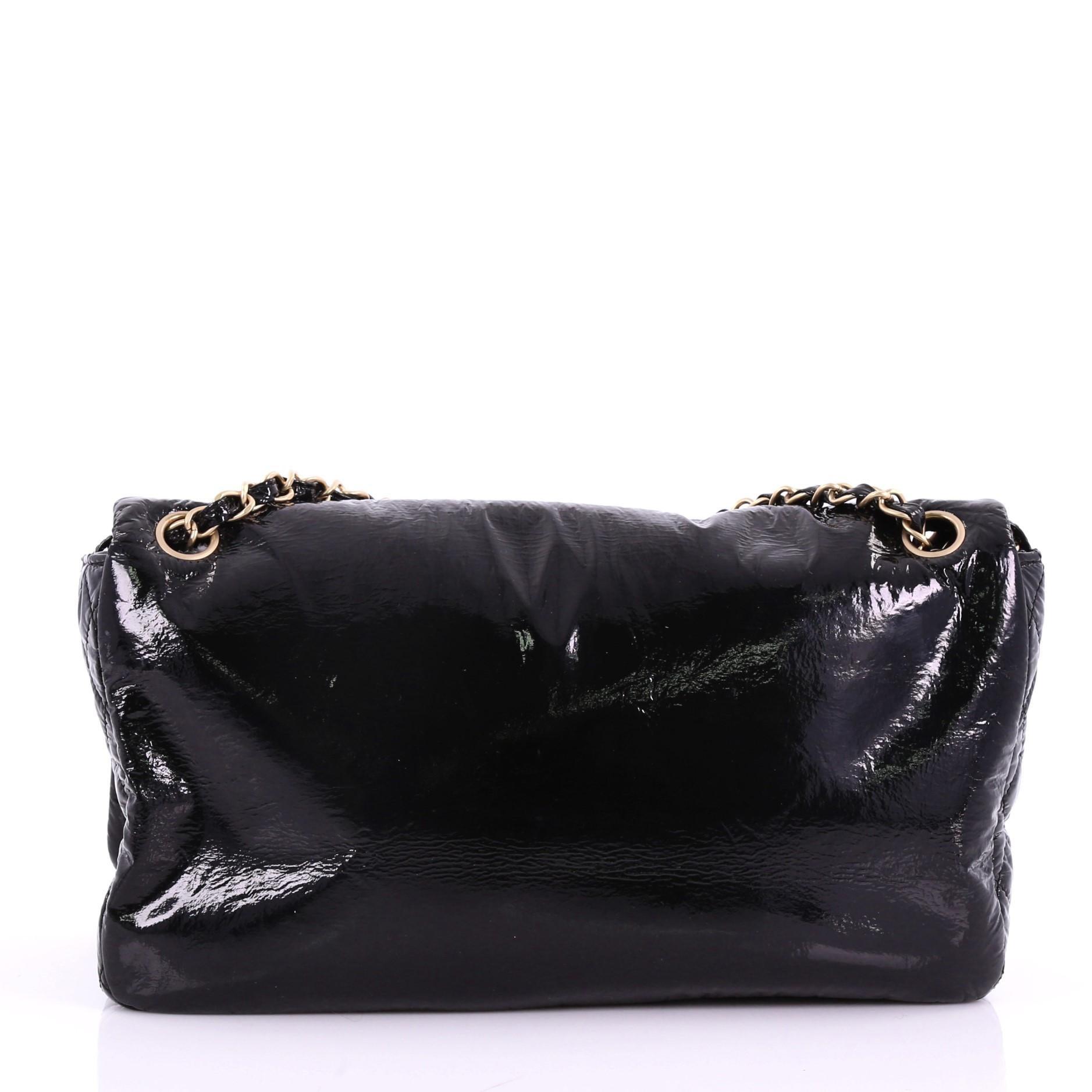 8573e4c50c14 Chanel Rock and Chain Flap Bag Patent Vinyl Medium at 1stdibs