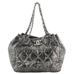 Chanel Rock in Moscow Accordion Tote Quilted Printed Nylon Medium