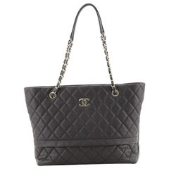 Chanel Rolled Up Tote Quilted Caviar