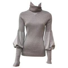 Chanel rose Cashmere Turtle Neck Top-42