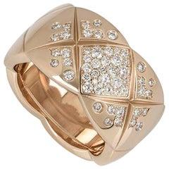 Chanel Rose Gold Diamond Coco Crush Ring J11100