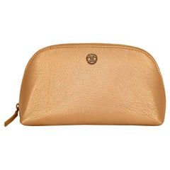 Chanel Rose Gold Leather Pouch