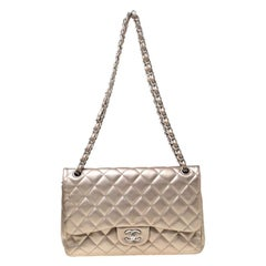 Chanel Rose Gold Quilted Leather Jumbo Classic Double Flap Bag