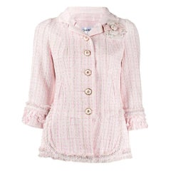 Chanel Rose Tweed Jacket