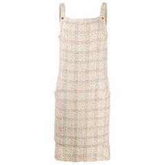 Chanel Rose Tweed Shift Dress