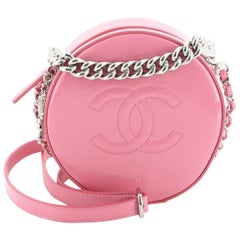 Chanel Round as Earth Crossbody Patent