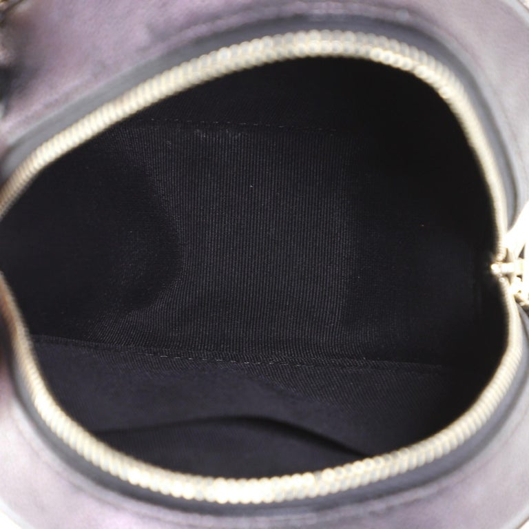 Chanel Round Clutch with Chain Quilted Caviar Mini For Sale 1