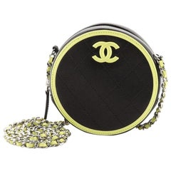 Chanel Round Clutch with Chain Quilted Lambskin Mini