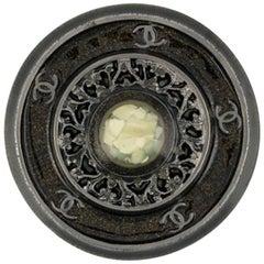 Chanel Round Glass Brooch