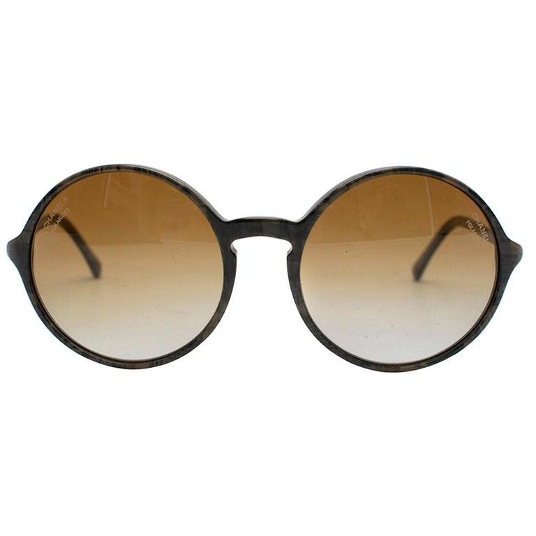 b0b7290e Chanel Round Gradient Sunglasses