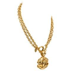Chanel Round Logo CC Pendant Necklace