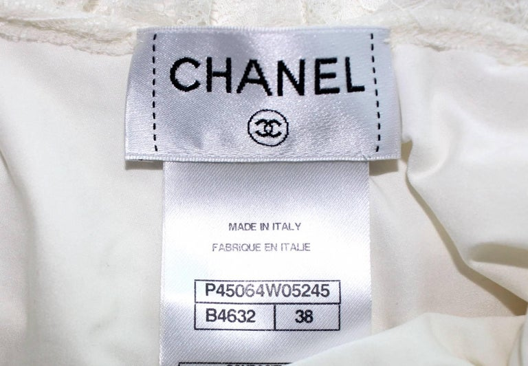 Chanel Ruched Camellia Lace One-Piece Signature Bodysuit Swimsuit  For Sale 2