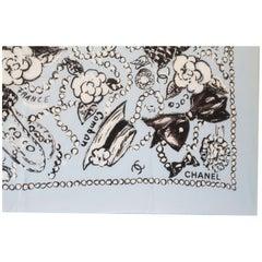 Chanel Rue Cambon beach pareo scarf 100% cotton