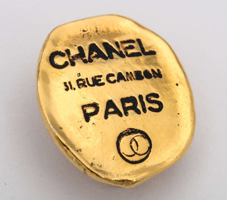 Chanel Rue Cambon Clip-On Earrings In Good Condition For Sale In Chicago, IL