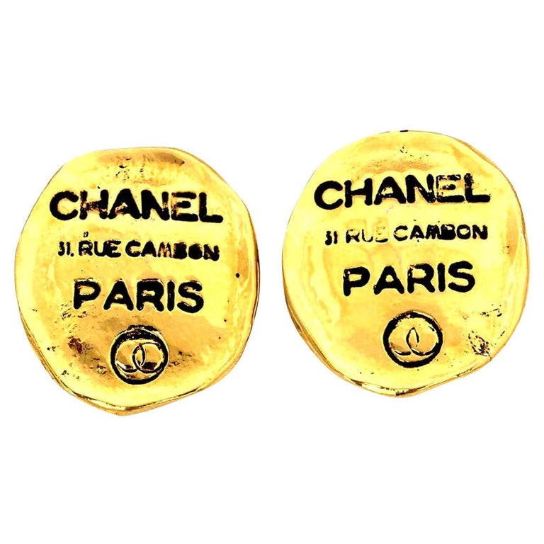 Chanel Rue Cambon Clip-On Earrings For Sale