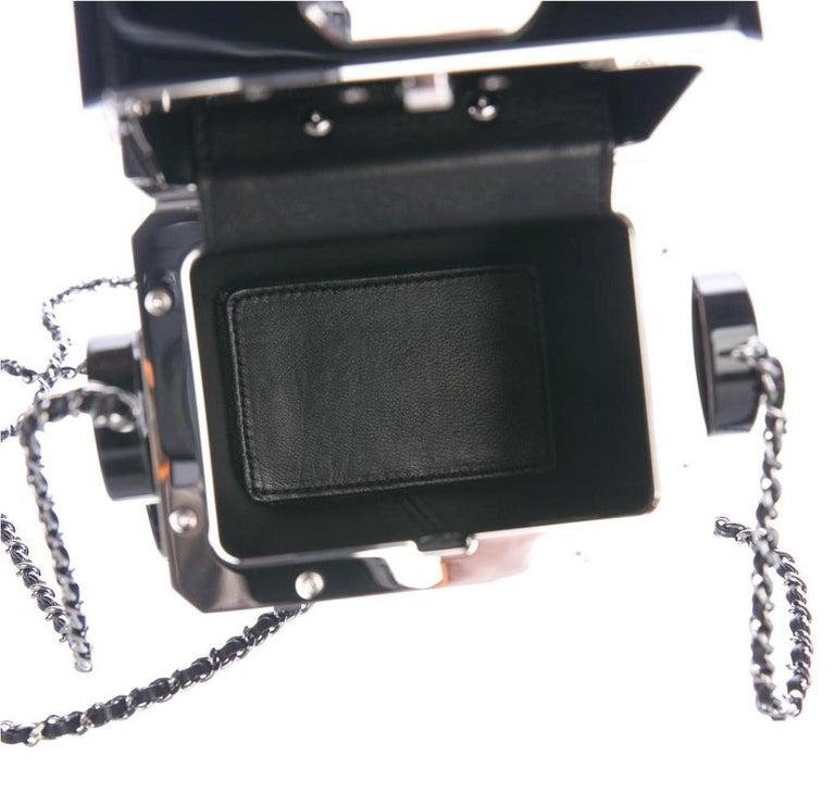 Chanel Runway Black Plexiglass Crystal Red Evening Shoulder Flap Bag For Sale 2