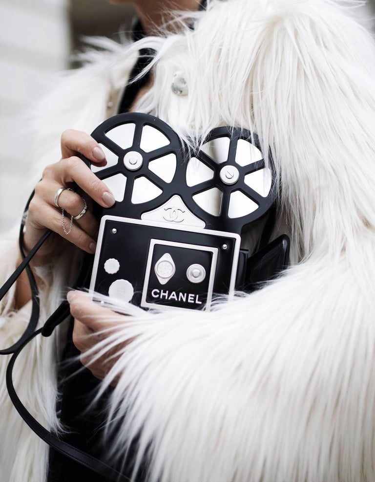 One of the World's Most Luxurious Chanel Bags.  From Chanel's 2016 Runway collection, this stunning resin and crystal encrusted film bag is hailed as of the world's most luxurious Chanel bags.  Produced in limited quantities, it is a rare find for