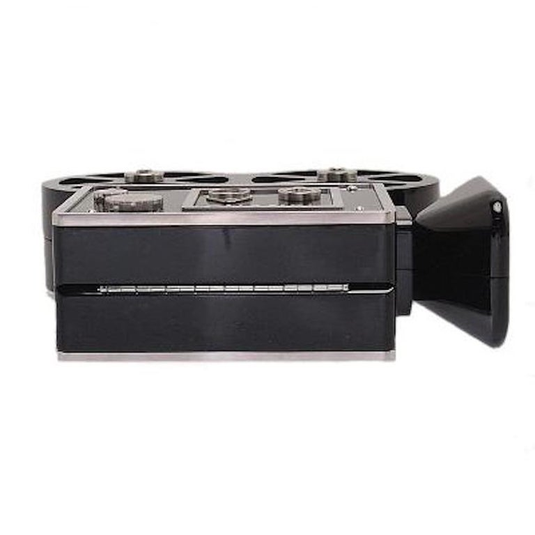 Chanel Runway Black Resin Satin Crystal Film Evening Clutch Shoulder Bag For Sale 2
