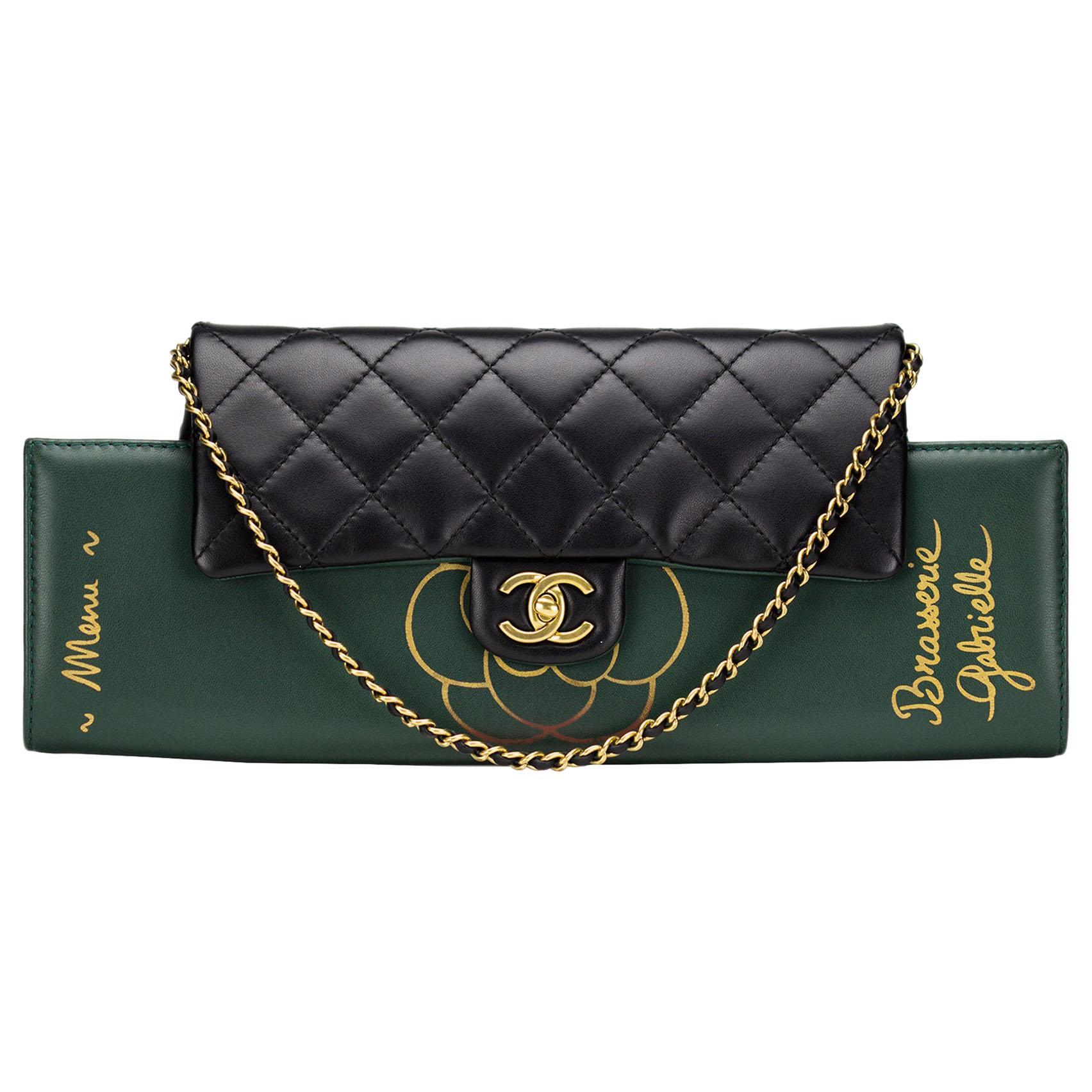 Chanel Runway Brasserie Calfskin Gabrielle Shoulder Flap Bag and Clutch, 2015