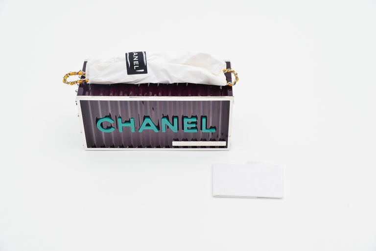 Chanel Runway Container Clutch / Shoulder Bag Karl Lagerfeld NEW  For Sale 2