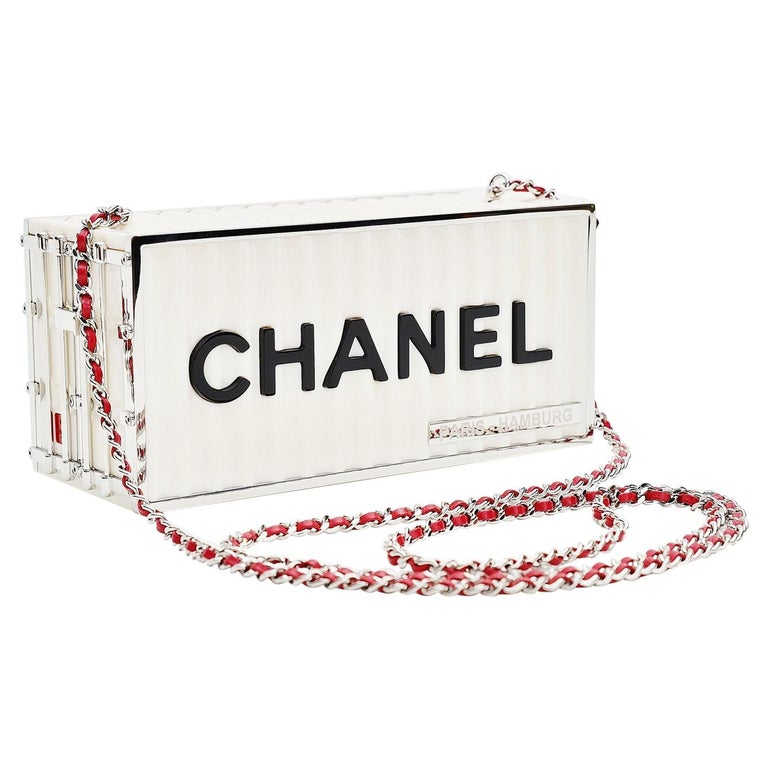 Chanel Runway Container Clutch/ Shoulder Bag Karl Lagerfeld NEW For Sale
